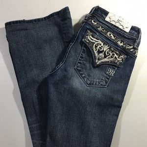 Girls Miss Me Bling Boot Cut Jeans size 16